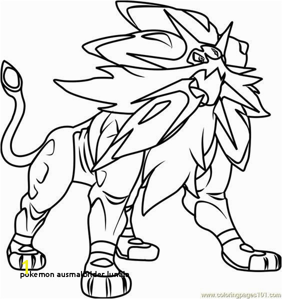 Pokemon Sun and Moon Printable Coloring Pages 22 Pokemon Ausmalbilder Lunala Colorprint