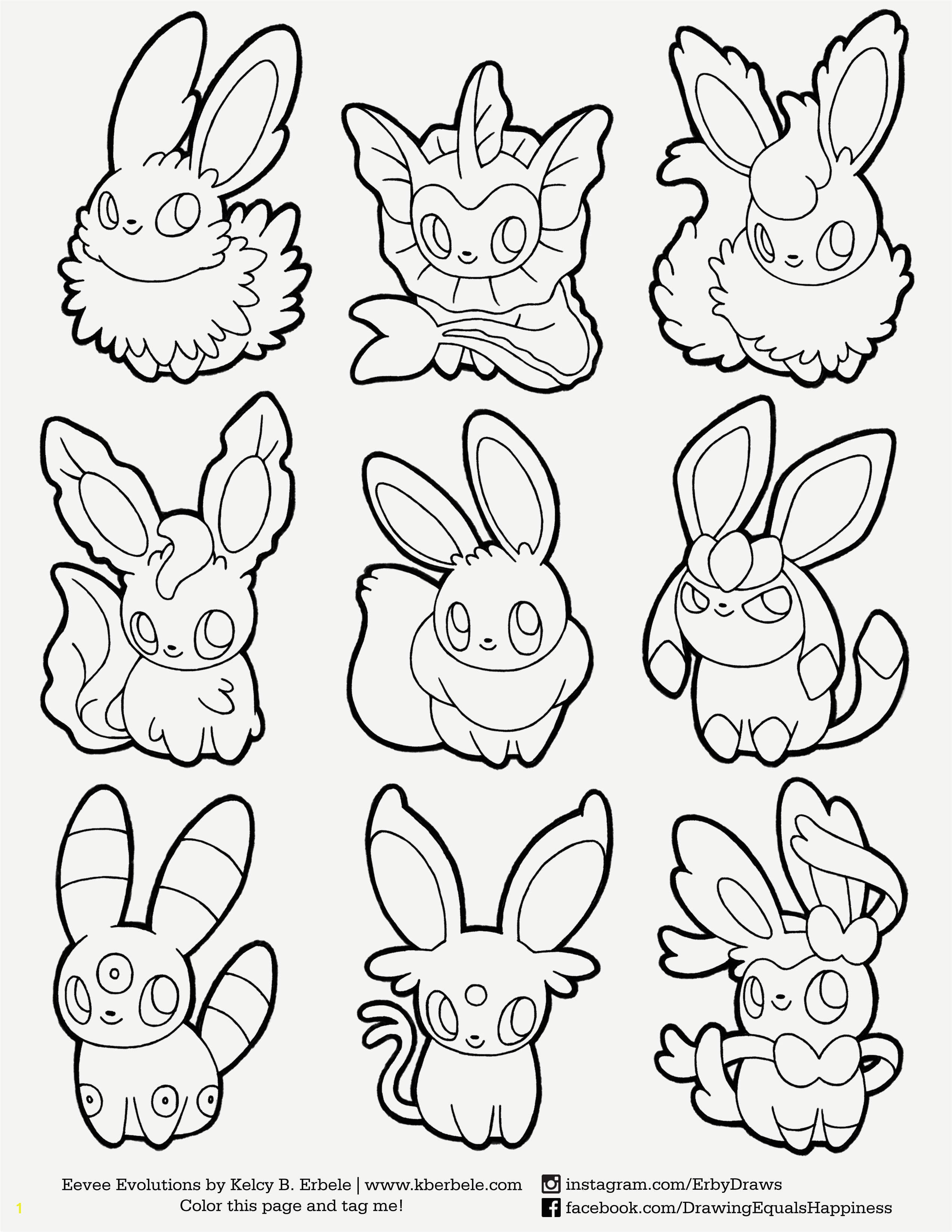 Pokemon Coloriage Joli Pokemon Eevee Evolutions Coloring Pages Free Download
