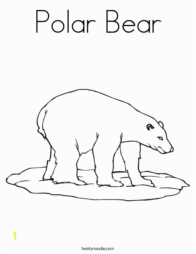 Polar Bear Coloring Page Coloring Pages Polar Bears Amazing Baby Polar Bear Drawing at