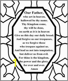 Free Lord s Prayer Coloring pages for children and parents Sunday School Activities Church Activities