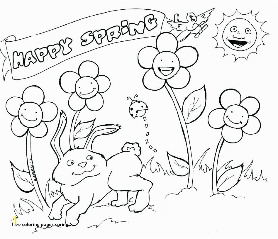 Free Coloring Pages Spring Pre K Spring Scene Coloring Sheets Printable Preschool Coloring