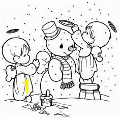 making snowman precious moments coloring pages Noel Snowman Coloring Pages Angel Coloring Pages