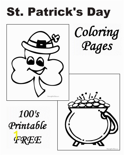 Preschool St Patricks Day Coloring Pages