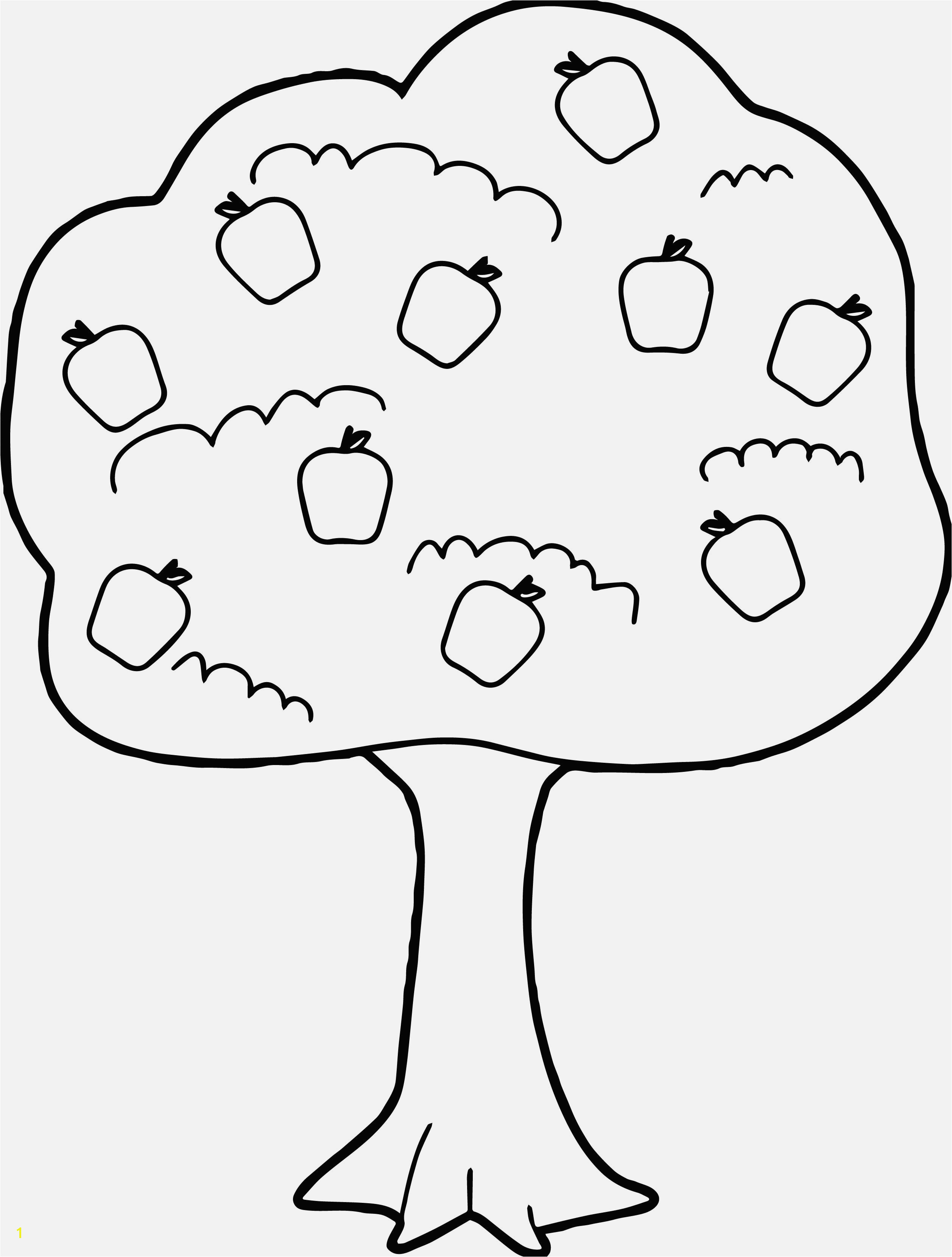 Apple Tree Coloring Page Easy and Fun Preschool Coloring Pages Apple Tree Inspirational Printable Coloring