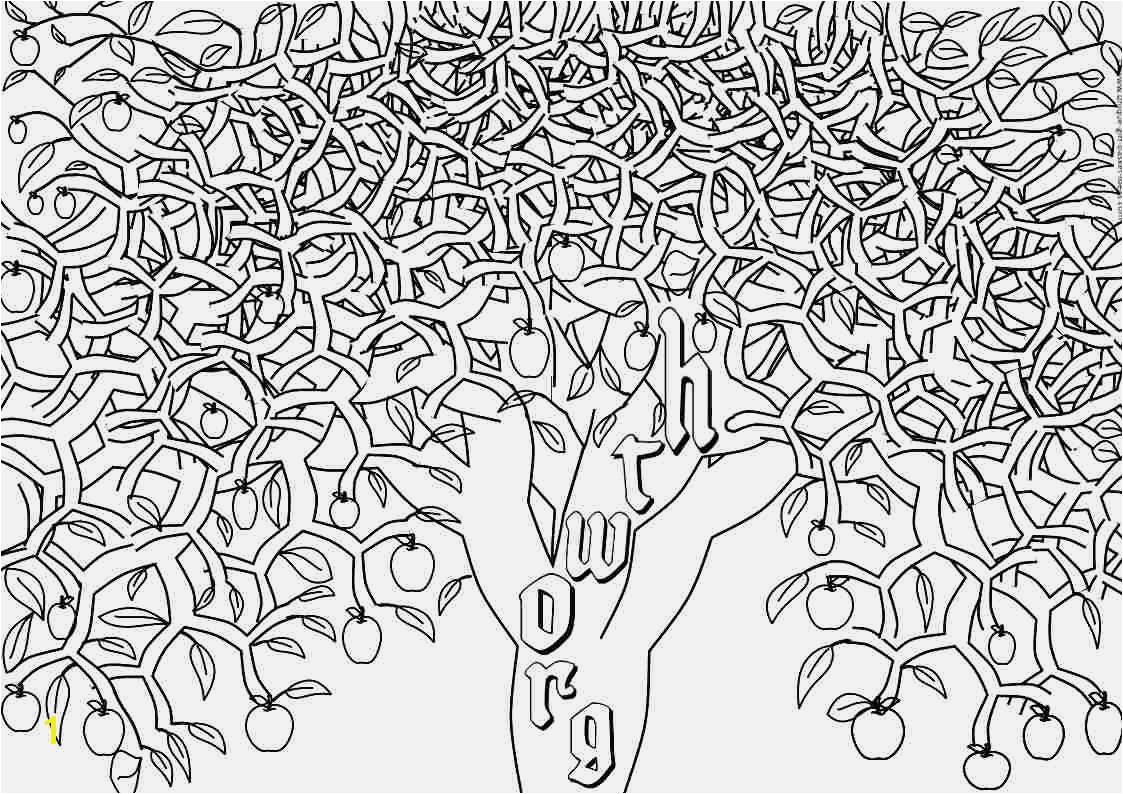 Apple Tree Coloring Page Coloring & Activity Tree Coloring Page Adults Tree Coloring Pages for Adults