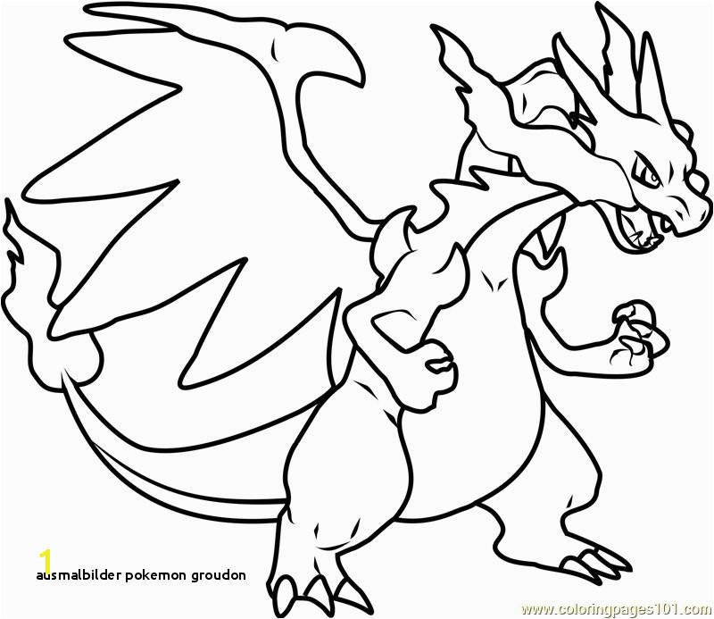 Ausmalbilder Pokemon Groudon Mega Charizard X Pokemon Printable Coloring Page for Kids and Adults
