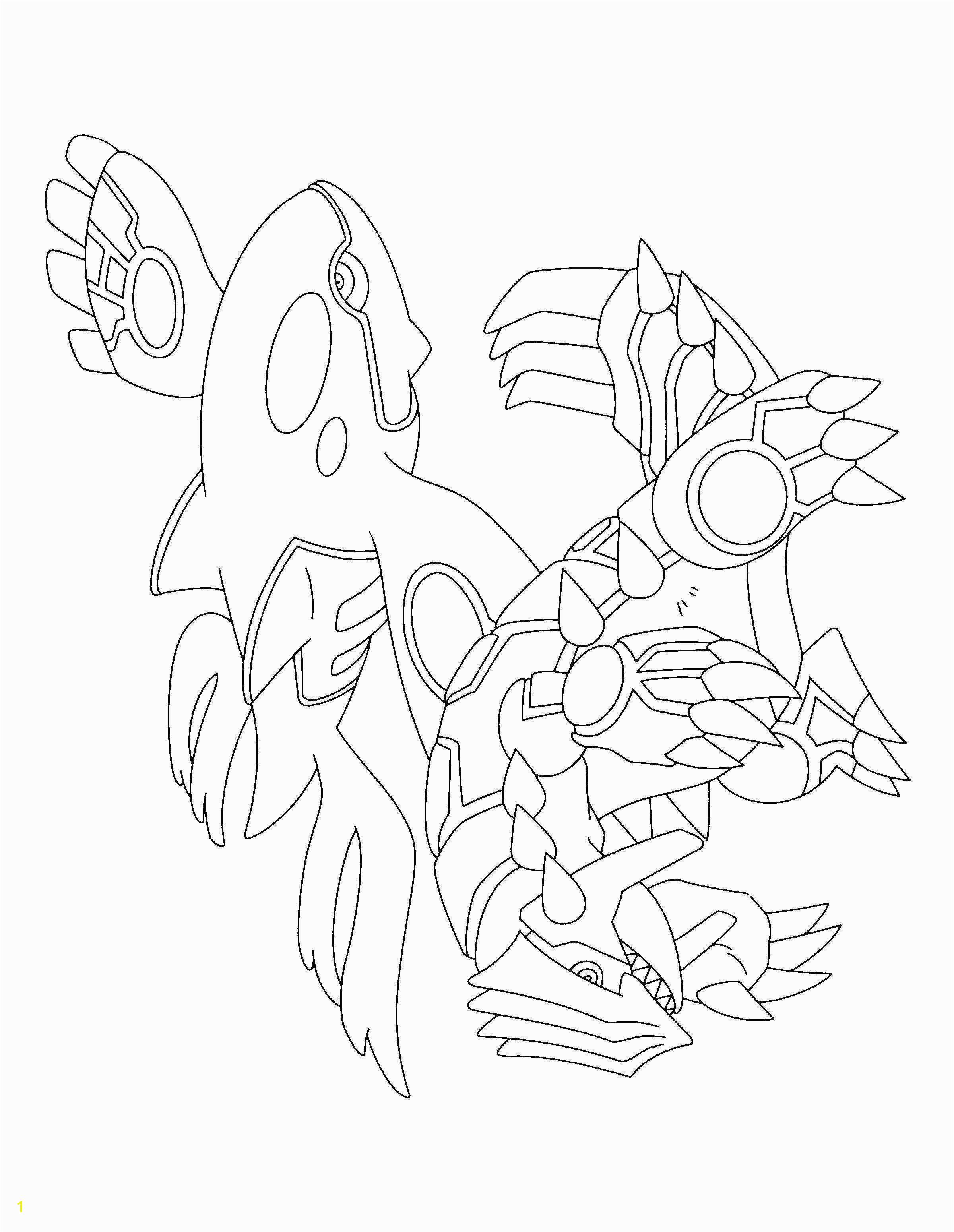 Coloriage Pokemon Groudon Awesome Kyogre Coloring Pages Mega Printable Legendary Colouring Pokemon