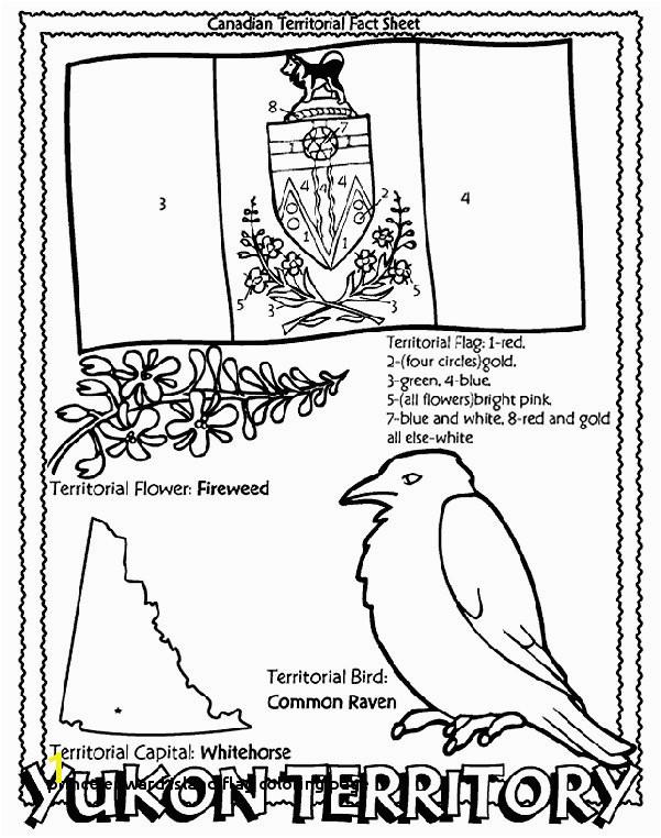 Prince Edward island Flag Coloring Page Canadian Territory Yukon Territory Coloring Page