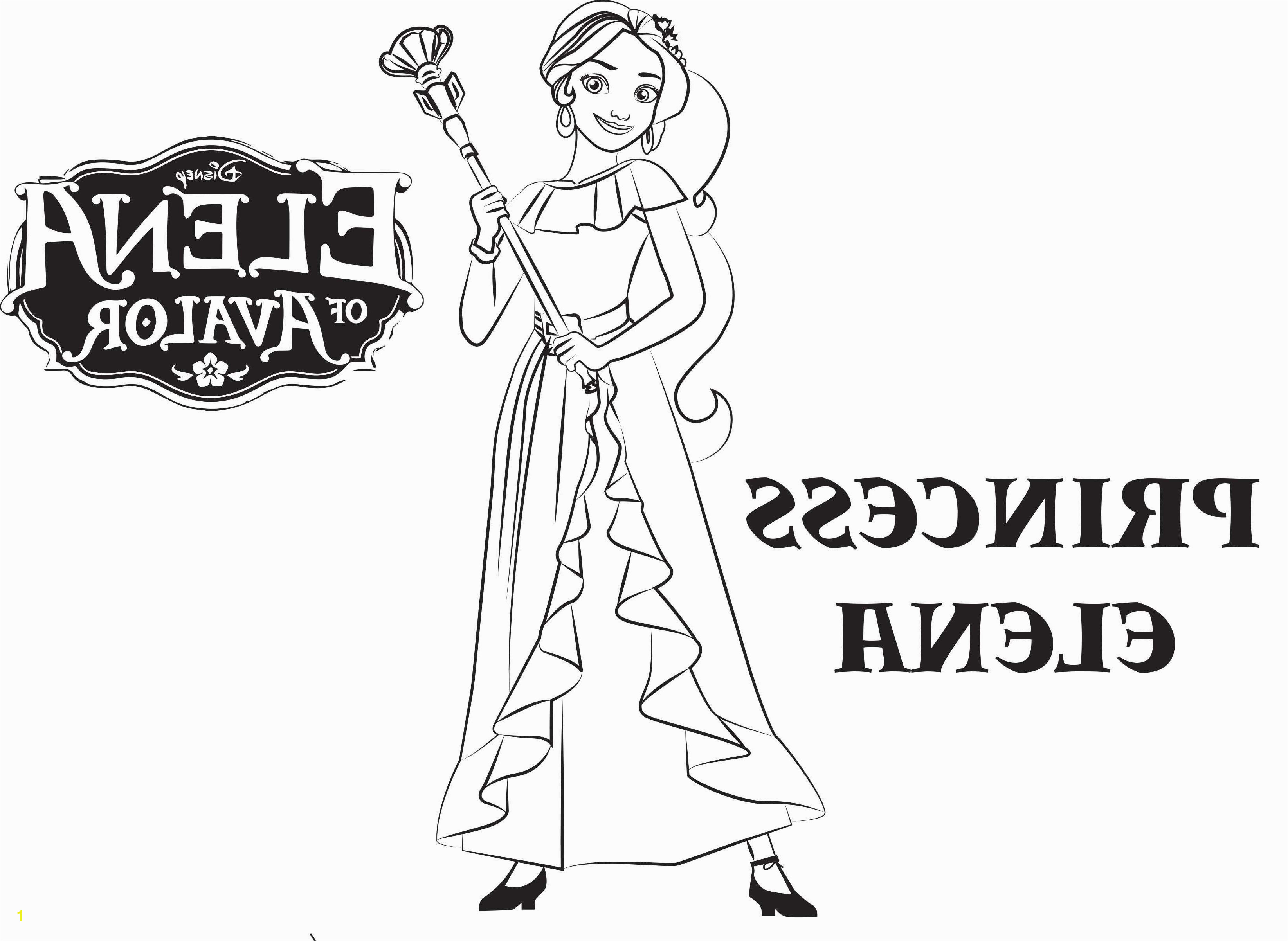 Print Princess Coloring Pages Download Elena Coloring Page Download