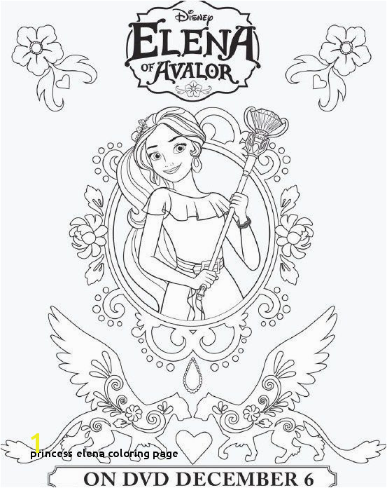 Elena Coloring Pages Printable Coloring Page