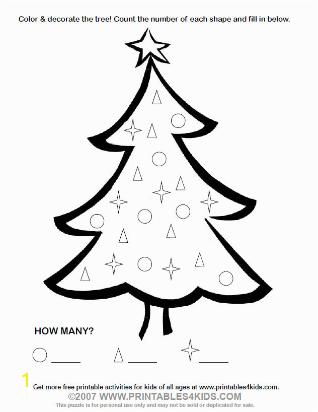 Christmas Tree Coloring Page Printables for Kids – free word search puzzles coloring pages and other activities