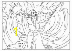 Coloring page Moses parts the Red Sea Moses Red Sea Parting The Red Sea