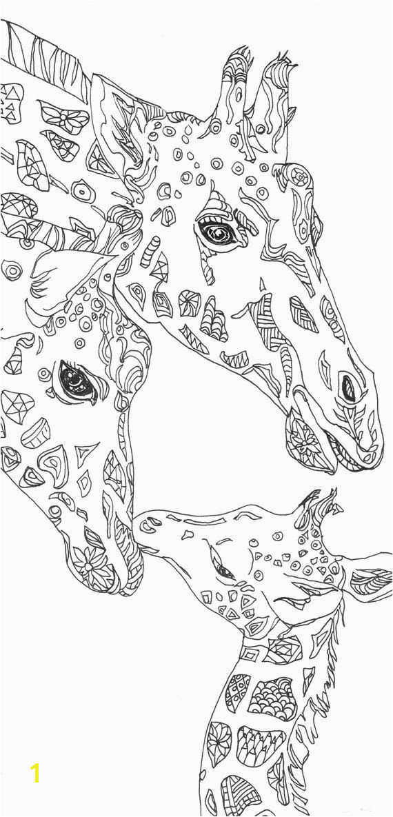 Coloring pages Giraffe Printable Adult Coloring book Clip Art Hand Drawn Original Zentangle Colouring Page For Download Doodle art Picture