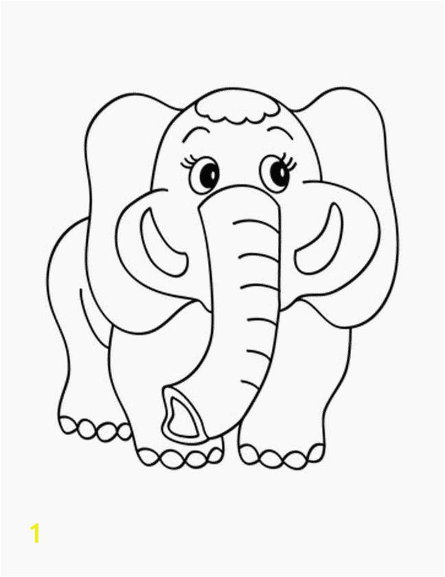 Printable Elephant Coloring Pages Printable Elephant Coloring Pages Inspirational Good Coloring