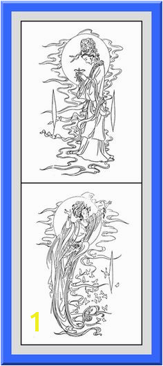 Printable Geisha Coloring Pages 30 High definition coloring pages black outlines with colored examples