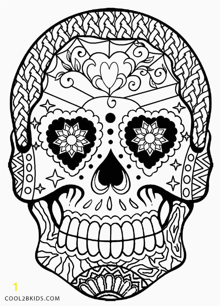 Printable Adult Coloring Pages Skulls Awesome Fresh Skull Coloring Pages for Adults Heart Coloring Pages