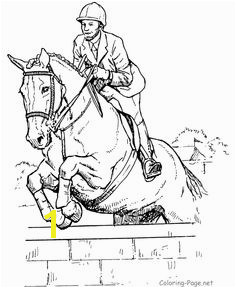 Jumping horse to color These free printable horse coloring sheets of horses to color are fun for kids