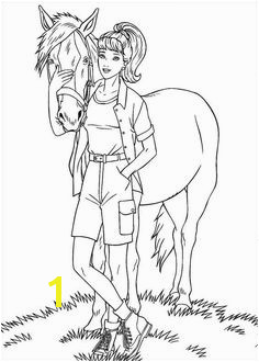 girl with horse Barbie Coloring Pages Coloring Books Princess Coloring Pages Cute Coloring