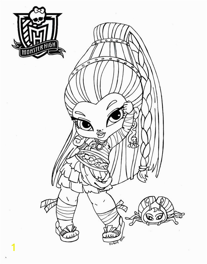 Printable Monster High Coloring Pages Baby Nefera De Nile by Jadedragonne