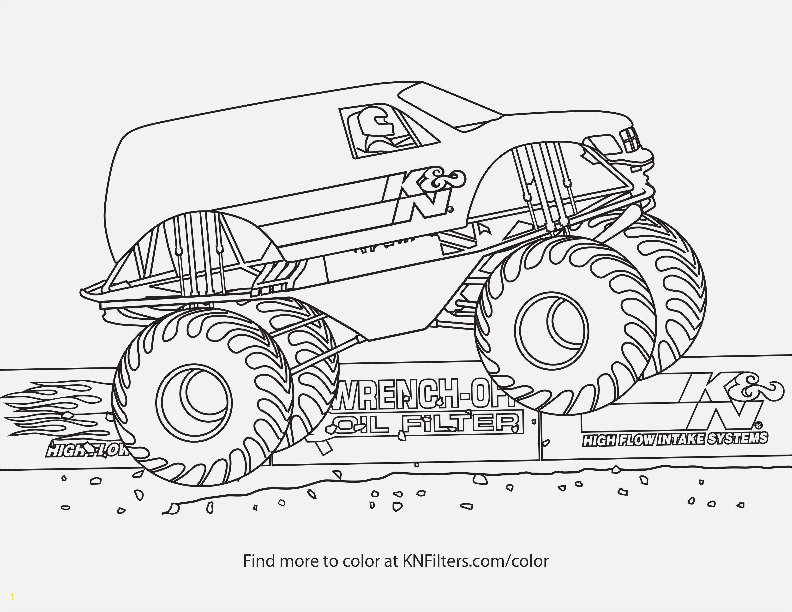 Coloring Pages Monster Trucks Easy and Fun Monster Truck Coloring Pages for Kids K&n Printable Coloring Pages