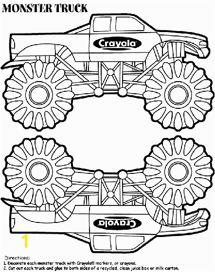 Monster Truck Box coloring page