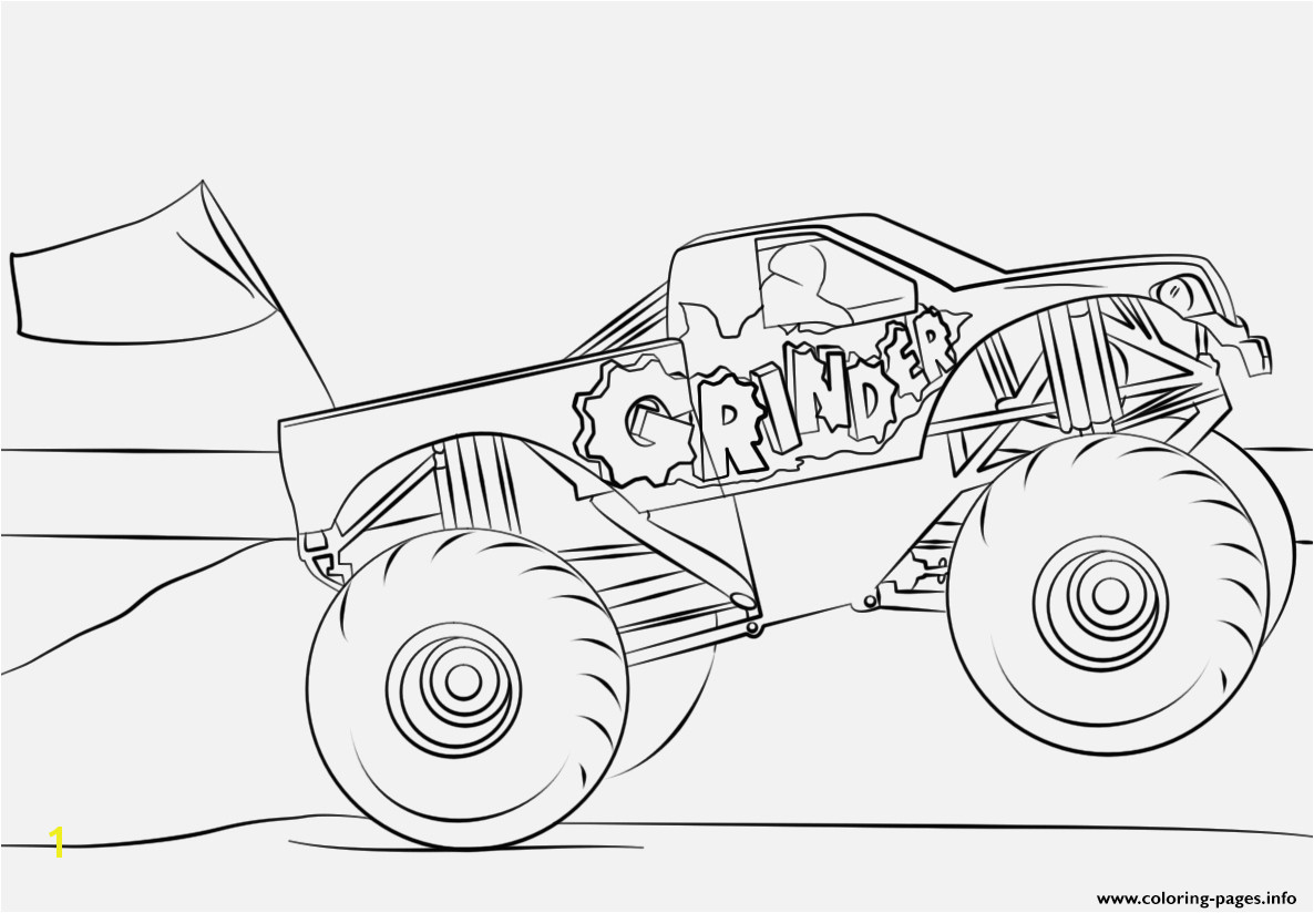 Monster Truck Coloring Pages Verschiedene Bilder Färben Grinder Monster Truck Coloring Page Coloring Pages Printable
