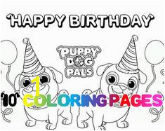 Coloring Pages puppy dog pals printables puppy puppies party favor favors digital instant birthday Twin
