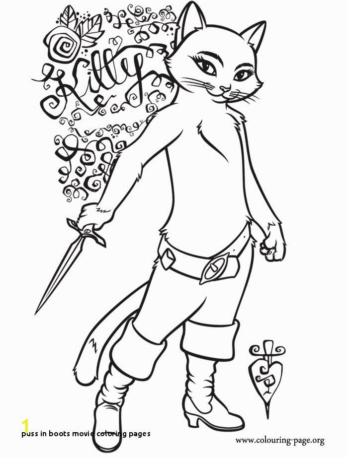 24 Puss In Boots Movie Coloring Pages