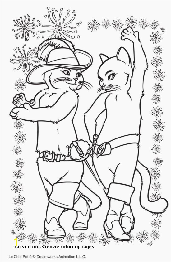 Beautiful Puss In Boots Coloring Pages