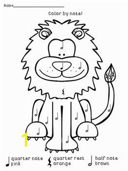 Quarter Note Coloring Page Color by Note African Animals Music Education