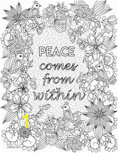Free inspirational quote adult coloring book image from LiltKids See more free adult