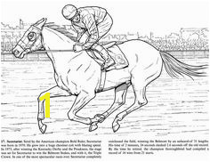 Kids Horse Racing Coloring Pages