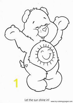 Care Bears sunshine bear Coloring printable page Mais