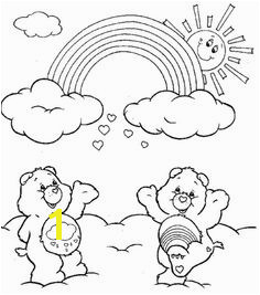 Rainbow Care Bears Coloring Pages