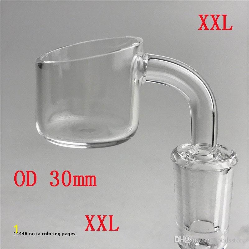 XXL Quartz Banger Nail Honey Bucket with 30mm OD 2mm Thick Wall 10mm