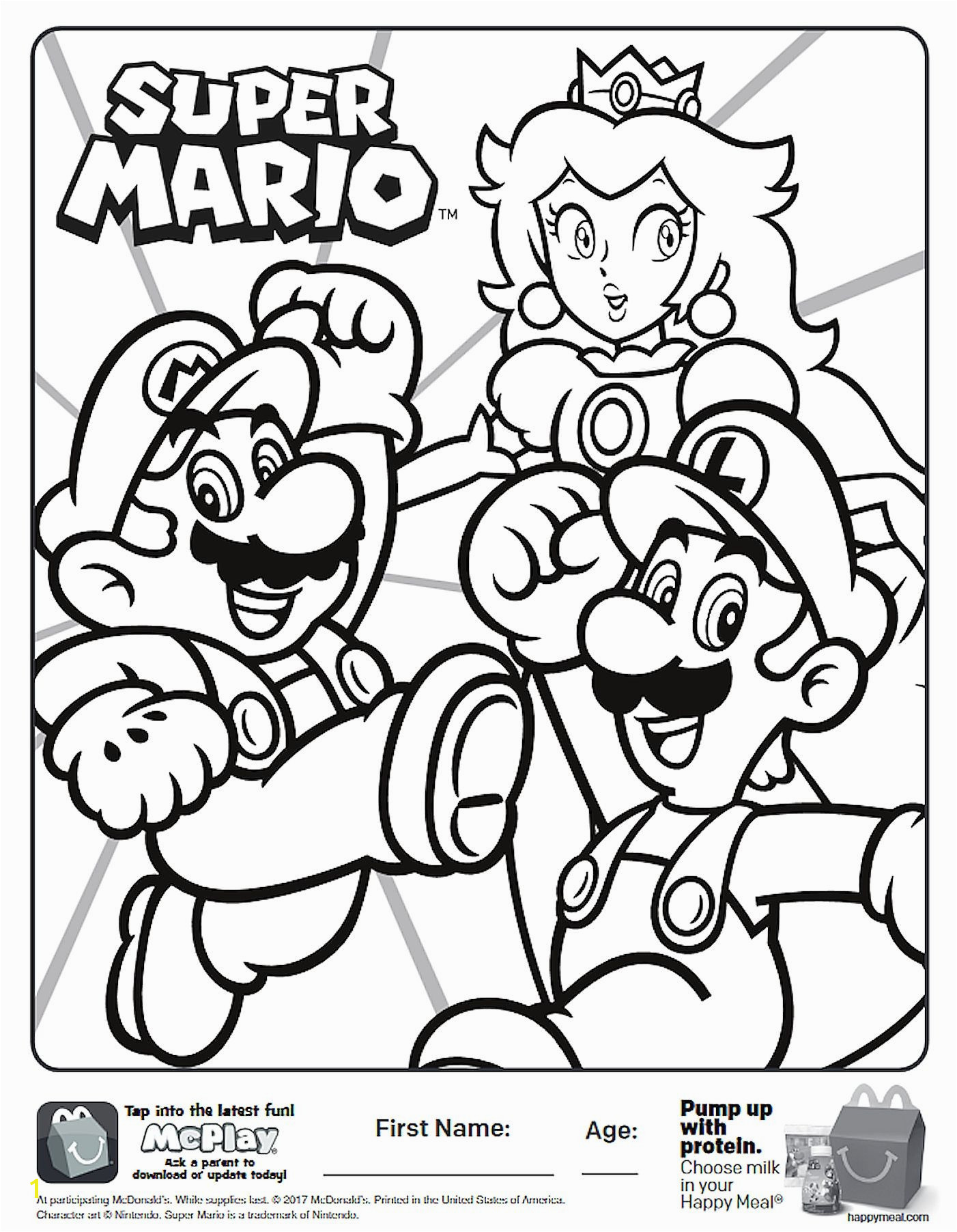 Here is the Happy Meal Super Mario Coloring Page the picture