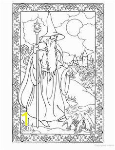 Wondrous Wizards Coloring Book Dover Publications