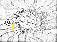 Sun & Moon Coloring Page