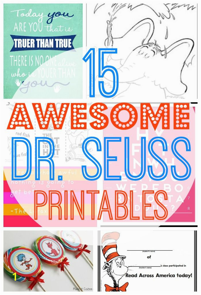 15 Awesome Free Dr Seuss Printables Coloring Pages Cupcake Toppers and more Find this Pin and more on Read Across America
