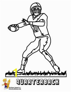 Cool Quarterback at YesColoring Coloring Pages For Kids Football Coloring Pages Coloring