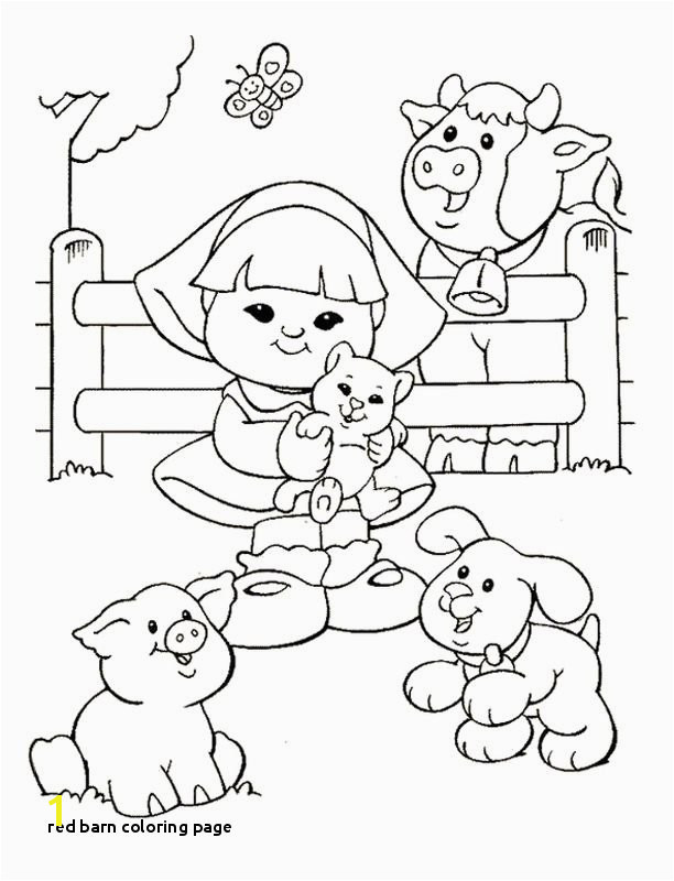 Red Barn Coloring Page Little People Coloring Pages 16
