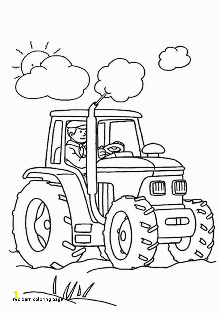 Red Barn Coloring Page top 25 Free Printable Tractor Coloring Pages Line
