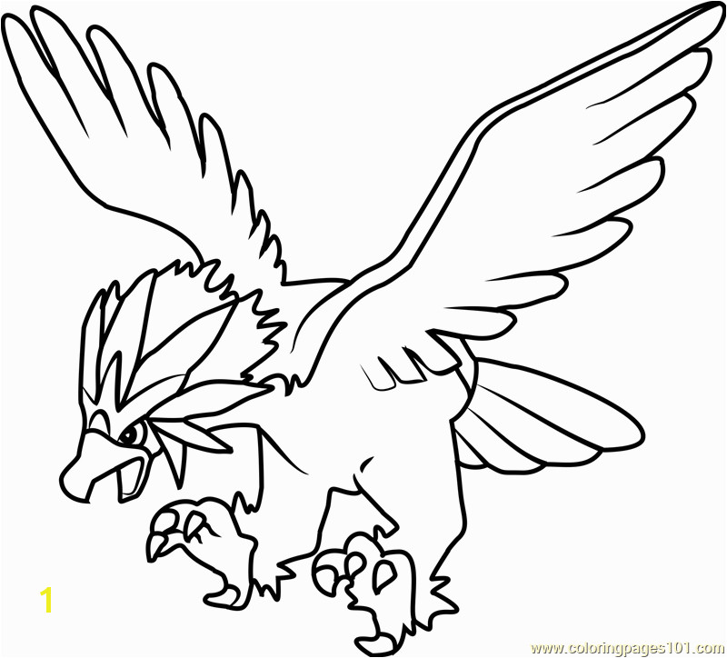 Braviary Pokemon Coloring Page