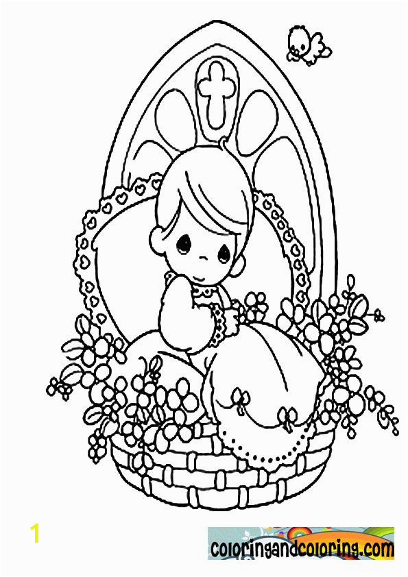 Precious Moments Coloring Pages Religious precious moments