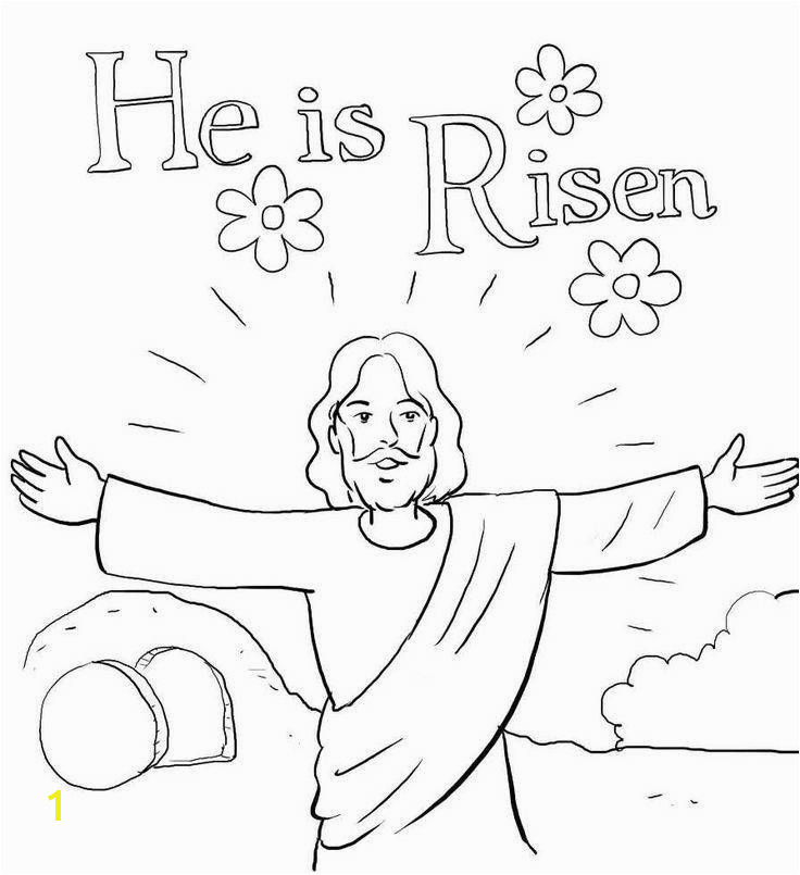 Jesus Easter Coloring Pages Best Religious Easter Coloring Pages Lovely Jesus is Risen Coloring Pages