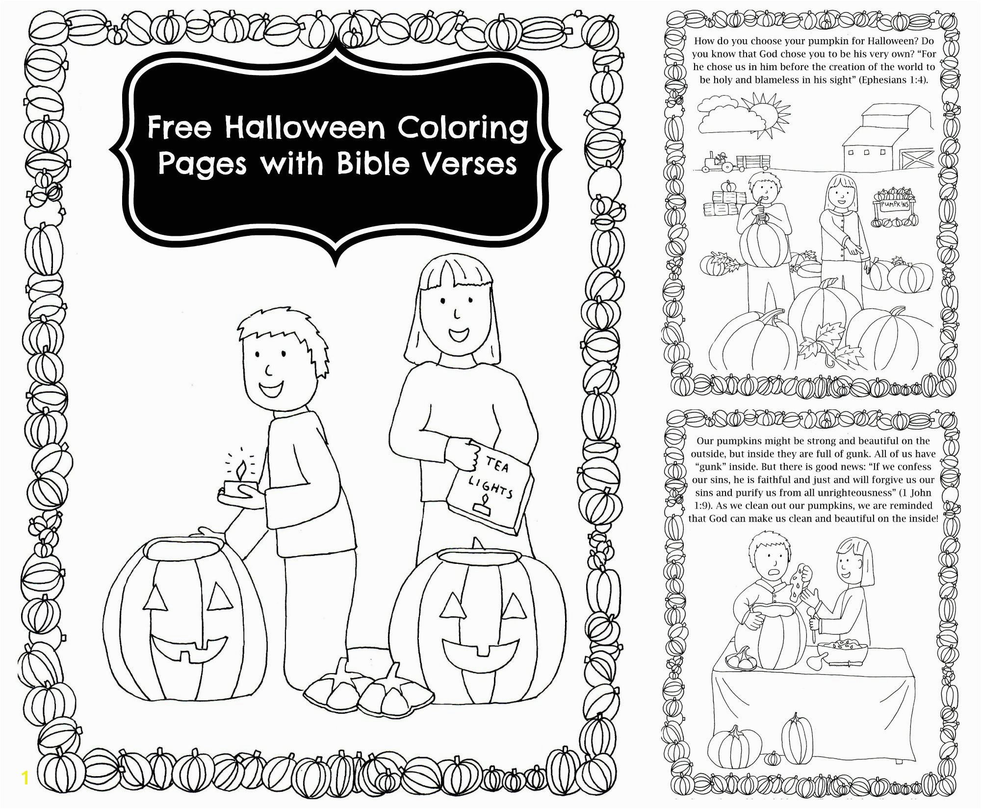 Free Pumpkin Story Coloring Book with Bible Verses