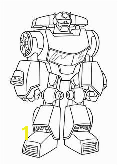 Chase bot coloring pages for kids printable free Rescue bots Chase Rescue Bot