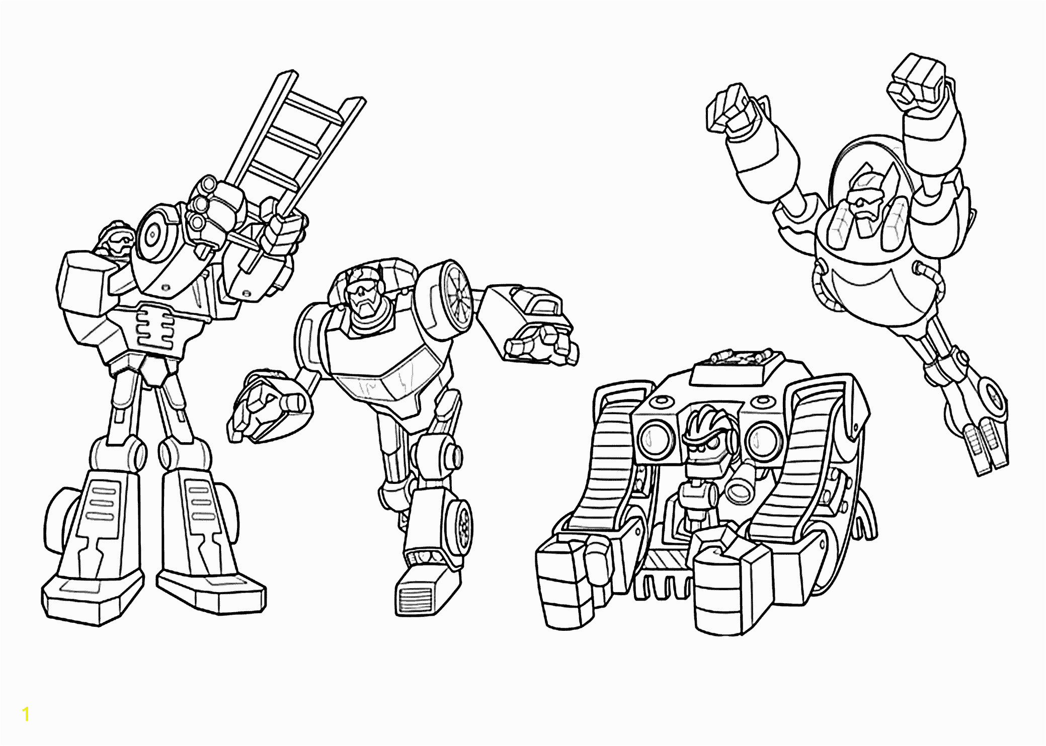 All Rescue Bots Coloring Pages For Kids Printable Free que