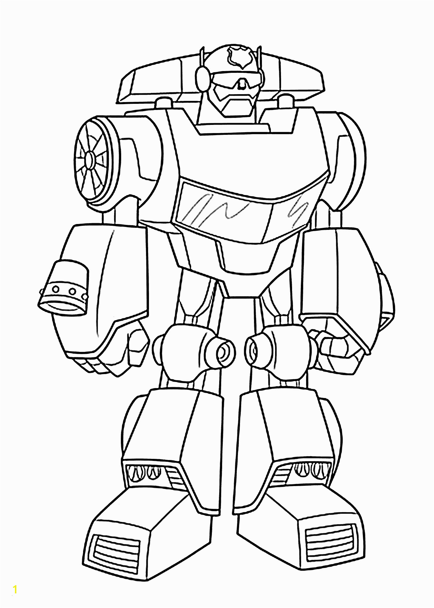Rescue Bot Coloring Pages