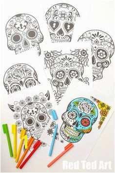 Day of the Dead Coloring Pages for Grown Ups & Kids